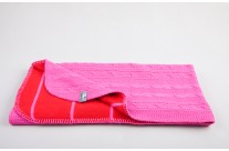 Couverture de berceau Cable Feston Fushia/Red by Baby's Only