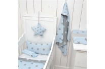 Couverture - Passe couloir STAR Blue/Light Grey by Baby's Only