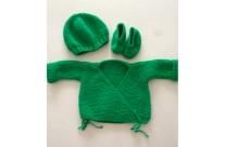 trousseau naissance vert vif Mc & Ju x Rock On Babies