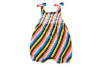 Barboteuse à smocks multicolore by Oh Baby London