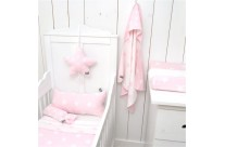 Couverture - passe couloir STAR Pink/White by Baby's Only